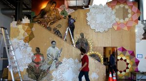 Art by Swoon through the Facebook Artist in Residence Program