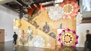 Art by Caledonia Curry (better known as Swoon) through the Facebook Artist in Residence Program.